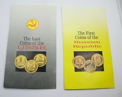 Last Coins of USSR / First Coins of the Russian Republic Set