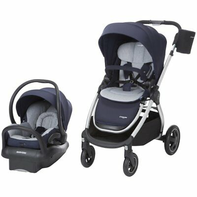 Maxi-Cosi Adorra Stroller and Mico Max 30 Car Seat Travel System, Brilliant Navy