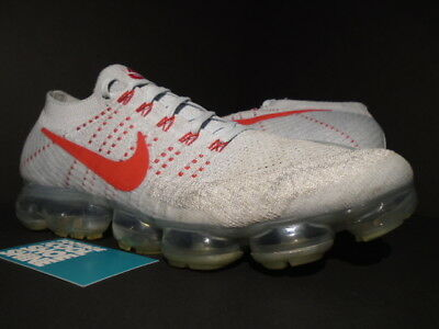 Nike Air Vapormax Flyknit Fk Pure Platinum Grey Silver Red Max 90 849558-006 12