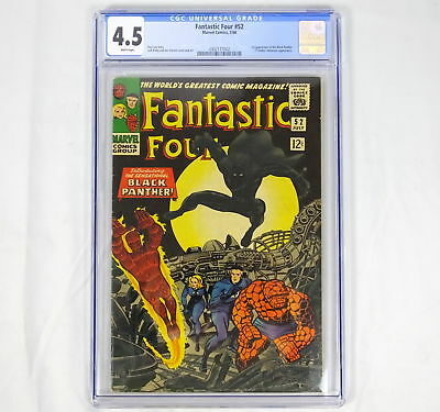 Marvel Comics Fantastic Four 52 CGC 4.5 1st Black Panther White Pages Stan Lee