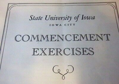 State University of Iowa Commencement Exercises 1951~Iowa City, IA