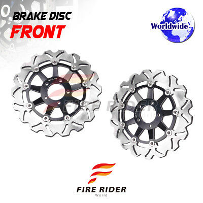 FRW 2x Front Brake Disc Rotor For Ducati HYPERMOTARD 1100 S 07-09 07 08 09