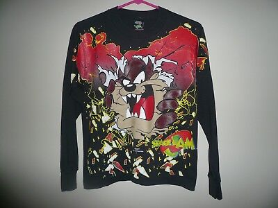 TAZ Space Jam Vintage 1996 Long Sleeve T Shirt YOUTH SZ LARGE 14 - 16 Freeze