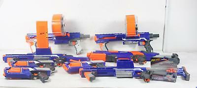 Nerf N-Strike Elite Blaster Gun Lot of 8 Drums Extended Clips Darts Rapidfire