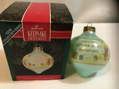 Vintage Betsey Clark Hallmark Glass Christmas Ornament 1992