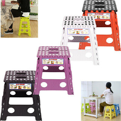 Large  Folding Step Stool Multi Purpose Heavy Duty Home Kitchen Foldable UK