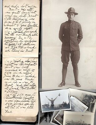 1917-19 Handwritten WWI Soldiers Diary Corporal Soden Portland OR France England