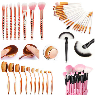 Professional 32 Pcs Kabuki Make Up Brush Set Eye Cosmetic Brushes Case Set