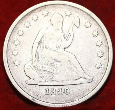 1840-O New Orleans Mint Silver Seated Liberty Quarter
