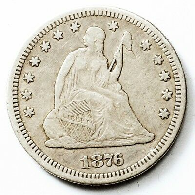 1876-S Seated Liberty Quarter - 25 Cents Silver - Circulated