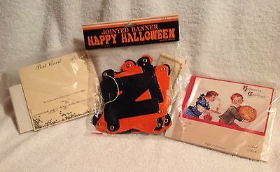 Halloween,Victorian Reproduction Invitations,Pumpkin,Halloween Jointed Banner