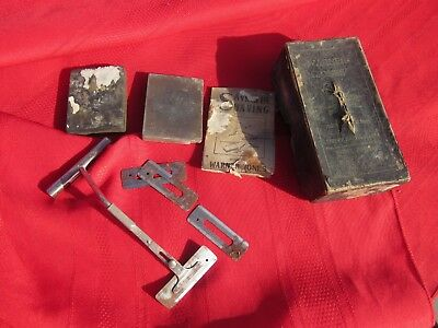 Warner Jones Antique Shaving Razor Blade Sharpener Tool-Hone,Strop,Box-Barbers