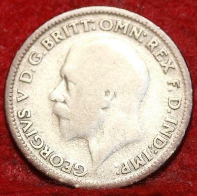 1932 Great Britain 6 Pence Silver Foreign Coin