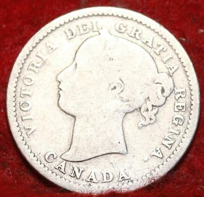 1899 Canada 10 Cents Silver Foreign Coin