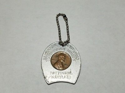 Vtg 1970 Keep Me and Never Go Broke Good Luck Token Baltimore & Ohio Museum