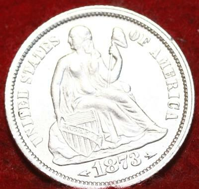 1873 Silver Philadelphia Mint Seated Liberty Dime With Arrows