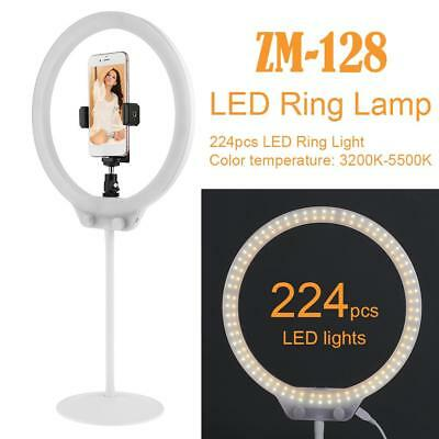224pcs LED Ring Light Dimmable 5500K Lighting Video Continuous Lamp Stand Kit
