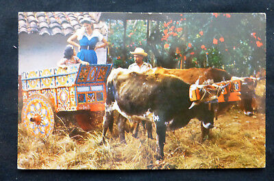 Costa Rica, Typical Painted Oxcart, postmarked 1956, Costa Rica Airmail Stamp