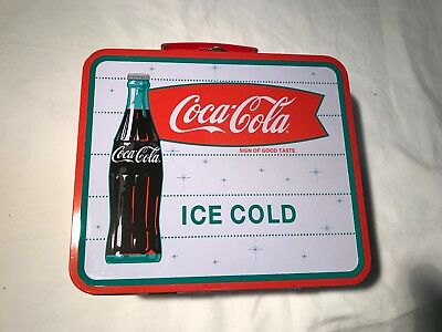 Coca Cola Ice Cold Tin Lunch Box - Sign of Good Taste