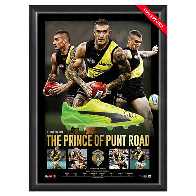 Dustin Martin Richmond Tigers 2017 Afl Brownlow Hand Signed Framed Football Boot