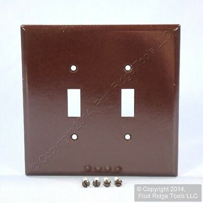 Eagle Brown JUMBO 2-Gang Toggle Switch Cover Oversized Thermoset Wallplate 2149B