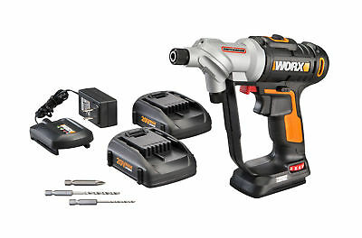 WX176L.5 WORX 20V Switchdriver Cordless Drill & Driver (2) Batteries Included 6