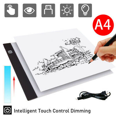 Dimmable USB A4 LED Light Box Tracing Board Art Stencil Drawing Copy Pad Table