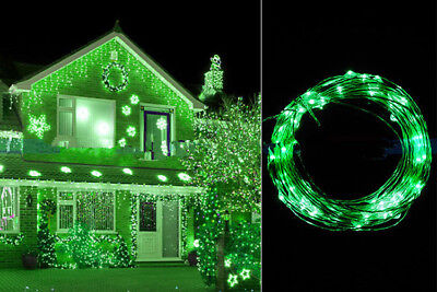 2M 20LED Copper Wire String Starry Light Fairy AA Battery Power Decor Green