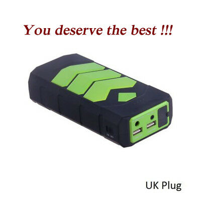 UK USB Jump Starter Battery Car Charger Booster Rescue Pack 600A 12000mAh Good