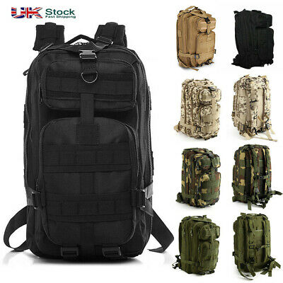 30L Military Tactical Army Rucksacks Molle Backpack Trekking Camping Hiking Bag