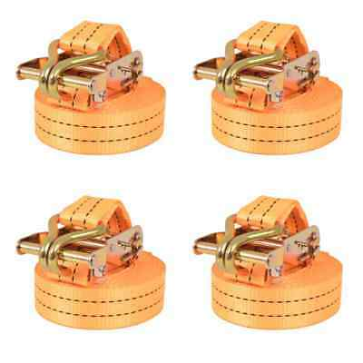 vidaXL 4x Sangle d'Arrimage à Cliquet 1 Tonne 6 mx38 mm Orange Transport