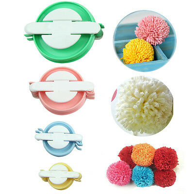 4 sizes DIY Fluff Ball Weaver Needle Craft Knitting Loom Wool Pompom Maker Tool