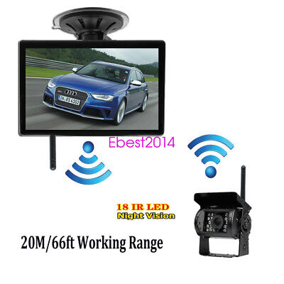 "Wireless Parking Kit 5"" TFT LCD Car Rear View Monitor+Night Vision Backup Camera"