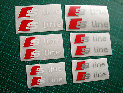 AUDI S-Line Premium Brake Caliper Decals Stickers A1 A2 A3 A4 A5 A6 Q3 Q5 Q7
