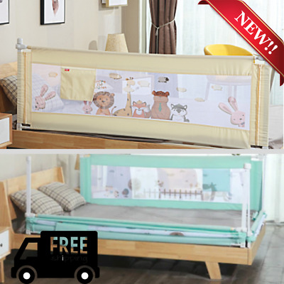 Adjustable Kids Infant Bed Guard Rail Toddler Baby Safety Fence(Only one side)