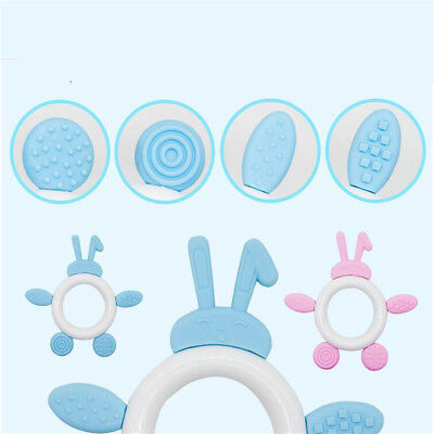 Pink Blue Baby Pacifier Cartoon Teething Silicone Nursing Necklace BPA Free CB