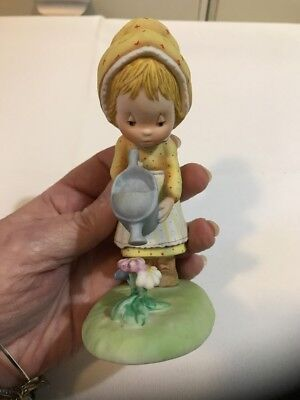 Hallmark Little Gallery Figurine Betsey Clark 1979 Porcelain Shower of Love