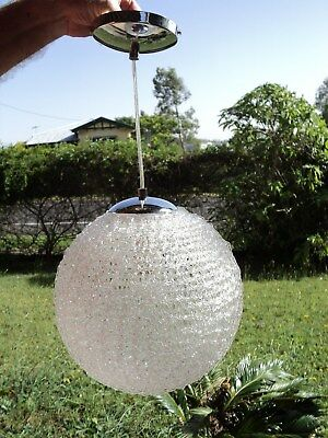 Retro Large Spaghetti Lucite Globe & Light Fittings - 1960s