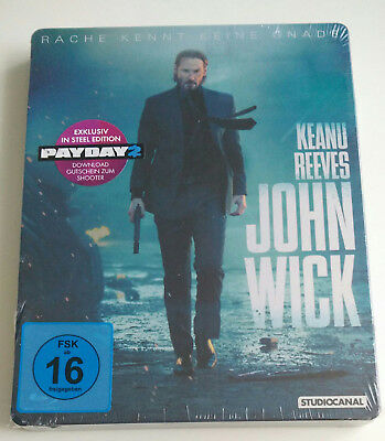 John Wick - Limited Edition Steelbook + PayDay 2 Steam Key (Blu-ray) NEU&OVP!