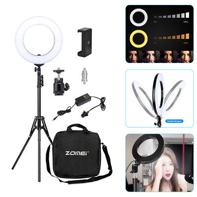 "14"" LED Ring Light Kit 41W Dimmable Studio Photo Camera Phone Stand Fill Lamp UK"