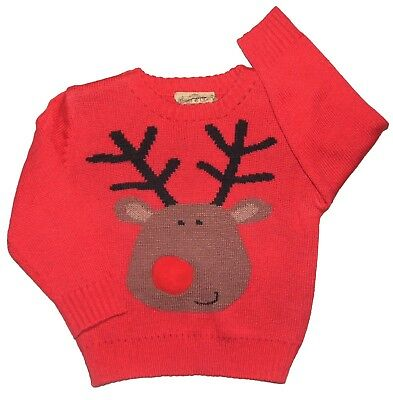 Christmas Jumper Boys or Girls 5-6 Years and 7-8 Years Clearance Bargain