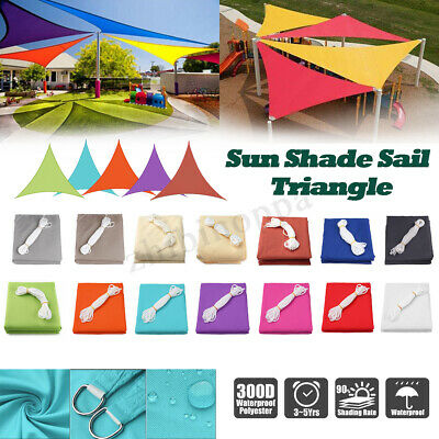 Triangle Sun Shade Sail Waterproof Outdoor Top Canopy Patio Windshield