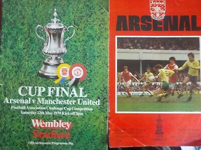 2 ARSENAL v MANCHESTER UNITED,1979,inc FA CUP FINAL