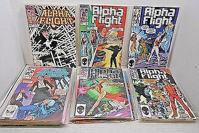 Marvel Comics - Alpha Flight- 1983-1986 Collection Lot Of 33- In Plastic Covers
