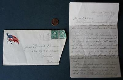 1917 WWI Deming New Mexico Camp Cody soldier letter with Kaiser & rifle content!