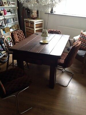 Outstandng rustic reclaimed old antique pine French farmhouse style table