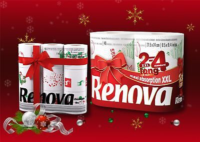 Renova Gift Set Xmas Pack of 9  Toilet Rolls  & Pack of 2 XXL Kitchen Rolls