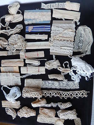 Important Lot De Dentelle Certaine Faite Main Ancienne Modele Different