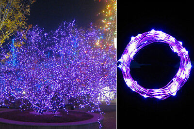 2M 20LED Copper Wire String Starry Light Fairy AA Battery Power Decor Purple