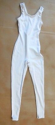 NWT TANK UNITARD MATTE SPANDEX child or ladies black or white ankle length